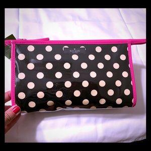 Kate Spade Black & White Polkadot Cosmetic Bag
